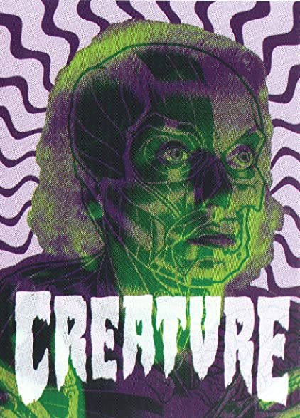 Creature anatomy skateboard sticker 10 5cm high approx skate snow surf board bmx guitar