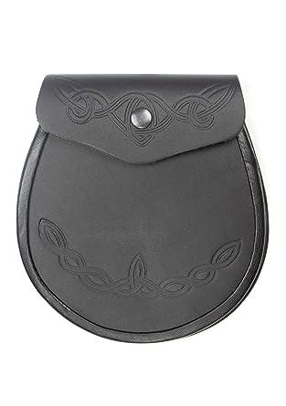 Amazon Kilt Society Celtic Pattern Smooth Leather Sporran Clothing Custom Sporran Pattern