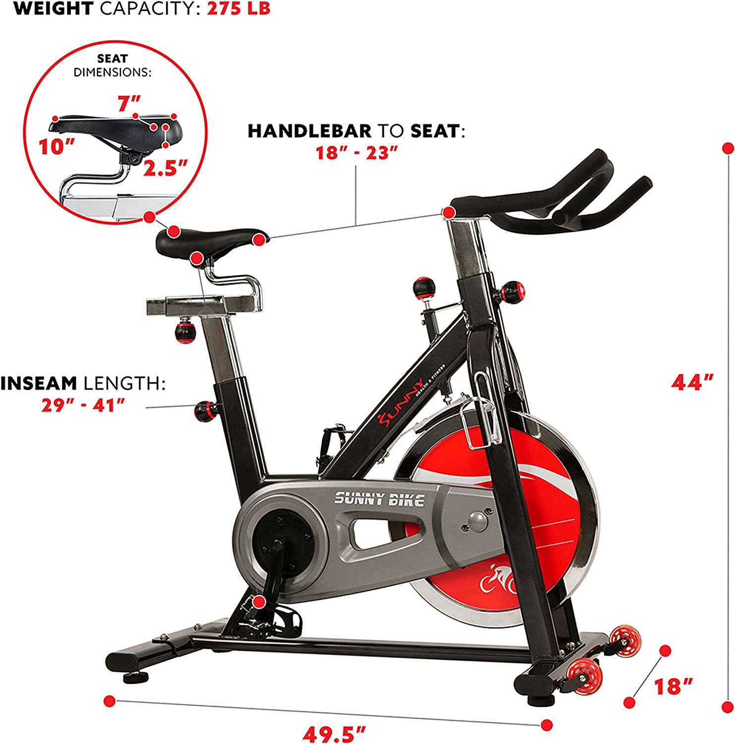 SUNNY Health & Fitness SF B1002bicicleta de interior: Amazon.es ...