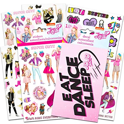 JoJo Siwa Stickers Stickers and Decal Party Pack ~ 4 Sheets of JoJo Siwa Stickers, 1 Jojo Siwa Decal, 1 Sheet Temporary Tattoos (Jojo Siwa Decorations): Toys & Games