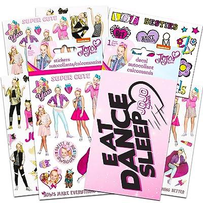 JoJo Siwa Stickers Stickers and Decal Party Pack ~ 4 Sheets of JoJo Siwa Stickers, 1 Jojo Siwa Decal, 1 Sheet Temporary Tattoos (Jojo Siwa Decorations): Toys & Games