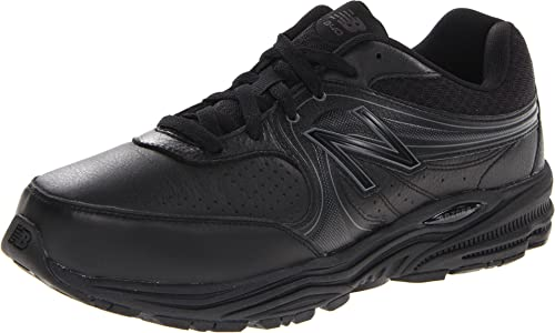 New Balance Men's MW840 Health Walking Shoe,Black,12 4E US