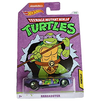 Hot Wheels TMNT Donatello RRRoadster 3/5, Purple: Toys & Games