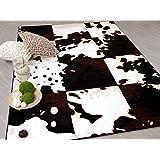High Quality Designer Teppich Safari Kuh Patchwork In 3 Größen