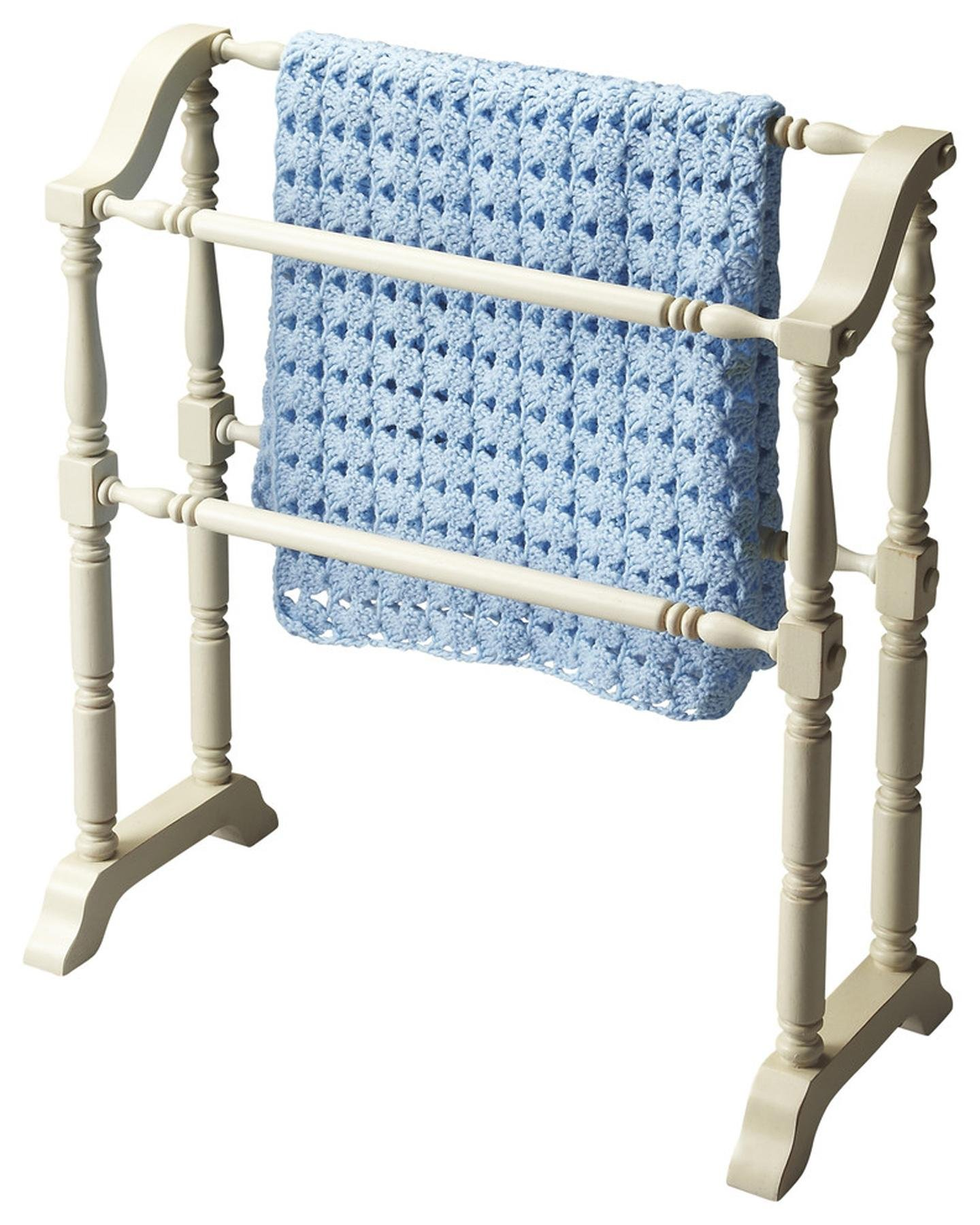 Butler Specialty Company 5020222 Lillian Cottage Blanket Rack, White by Butler Specialty Company
