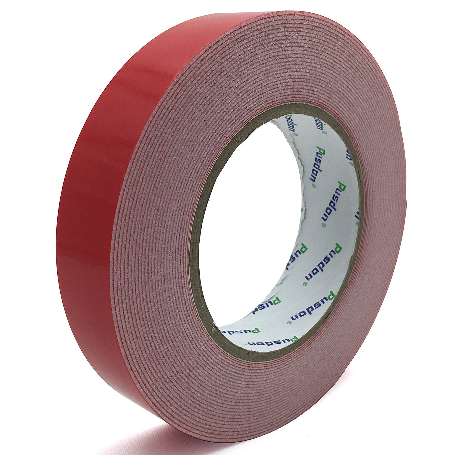 Pusdon Mounting Tape, Double Sided Foam Tape, 1-Inch x 10 Yards (25.5mm x 9.15m), Removable Weight Holding Capacity Tape