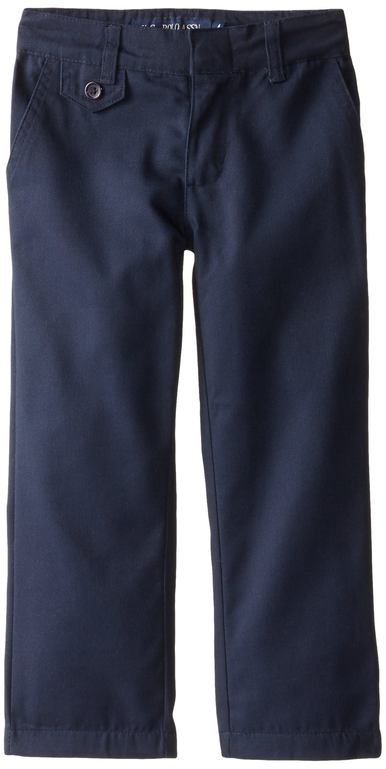 U.S. Polo Assn. Little Girls' Twill Pant (More Styles Available), Navy-YHKD, 6