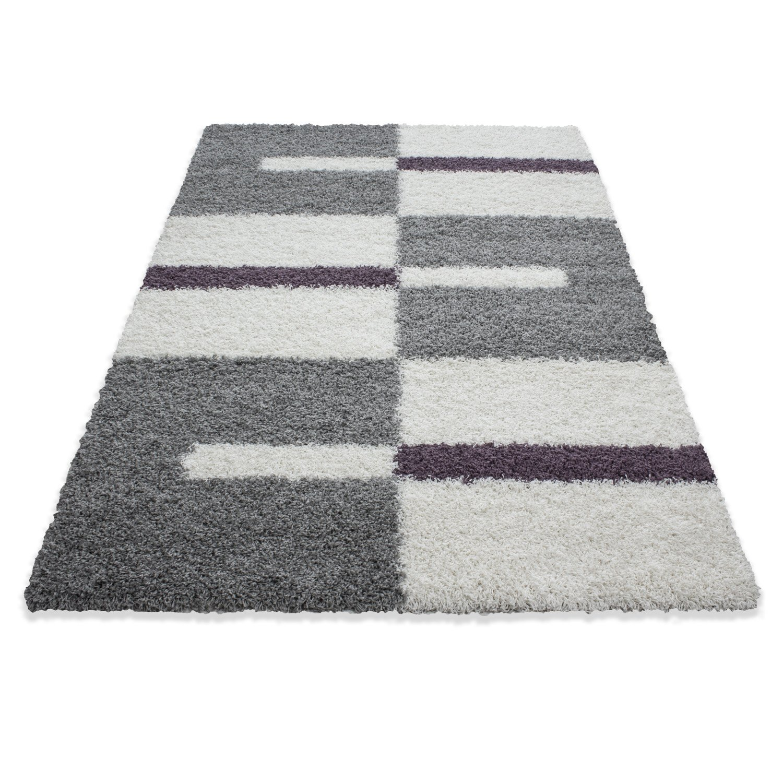 Carpetsale24 Hochflor Langflor Shaggy Teppich für Wohnzimmer Langflor Hochflor Pflegeleicht Schadsstof geprüft Teppiche Streifen Oeko Tex Standarts, Farbe Beige, Maße 240x340 cm 105a60