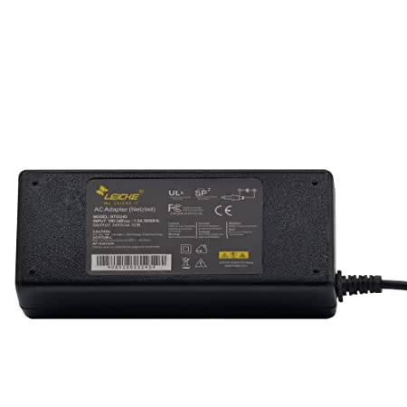 Adaptador universal LEICKE ULL 24V 3A 72 Vatios|Clavija de 5,5*2,5mm |Para varios dispositivos: impresora de etiquetas, impresora, escáner, fax, Switch, ...