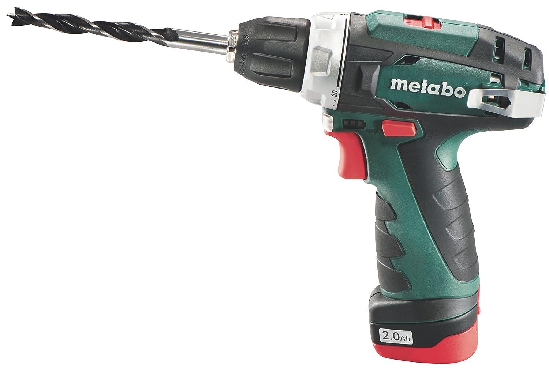 Metabo PowerMaxx BS Basic - Taladro/Atornillador 10, 8 V 2.0 Ah maletí n 8 V 2.0 Ah maletín 600080500