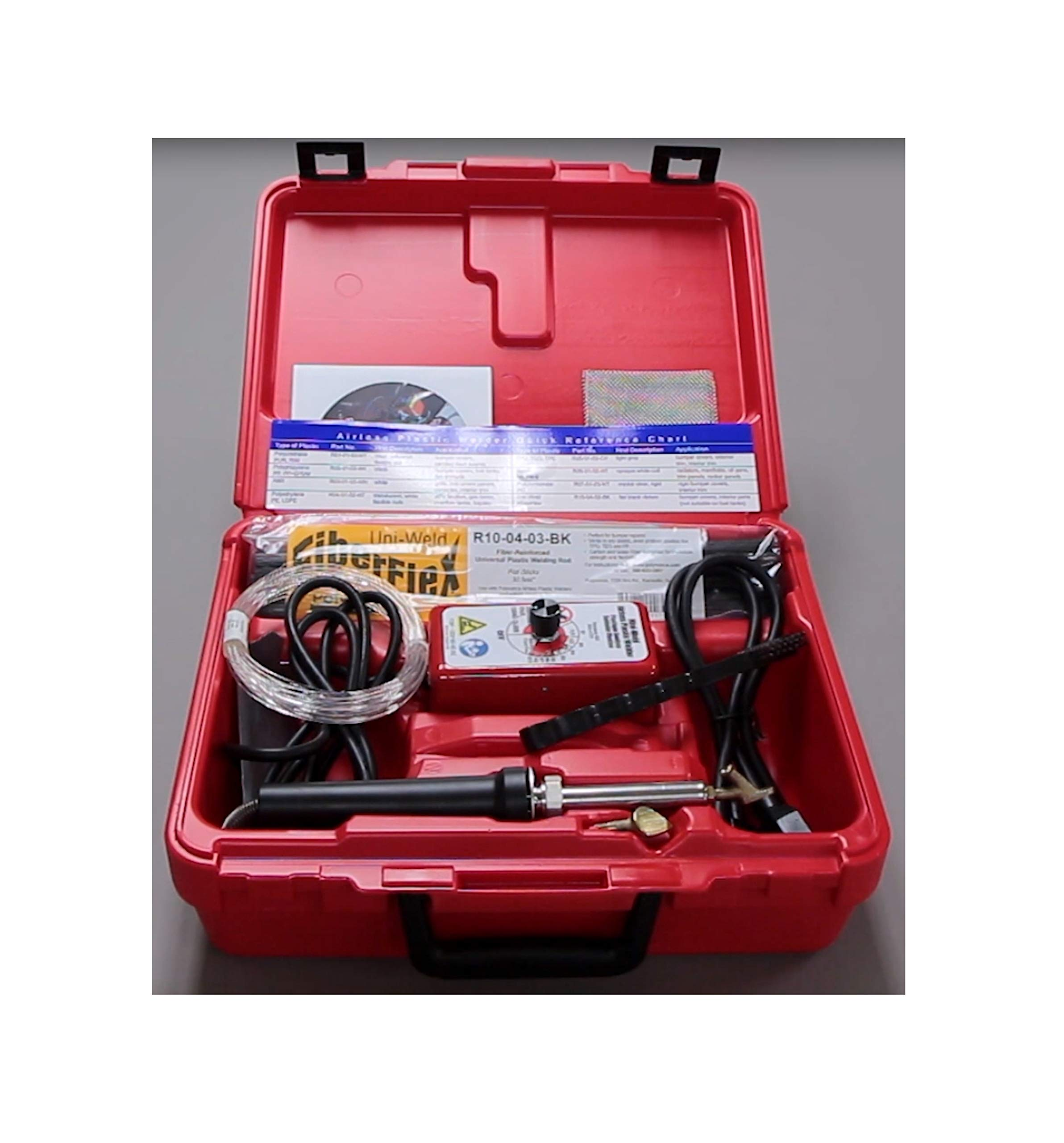 Plastic Welding Supply 200W w/7Rods Airless All Type Auto TEO TPO polyethylene Welder Kit Quick Delivery