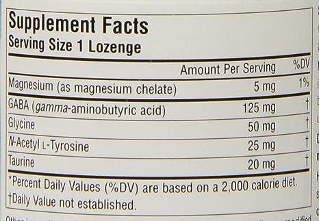 Source Naturals - sabor a menta Sublingual calma GABA - 60 tabletas: Amazon.es: Salud y cuidado personal