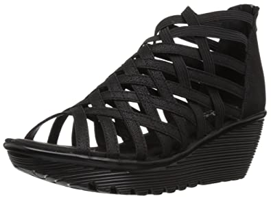 9f57faf13bb4 Amazon.com  Skechers Women s Parallel-Dream Queen Wedge Sandal  Shoes