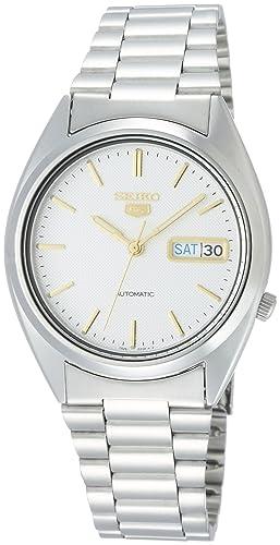 427875f75634 Seiko5 Reloj Analógico para Hombre de Cuarzo con Correa en Acero Inoxidable  SNXG47K1  Amazon.es  Relojes