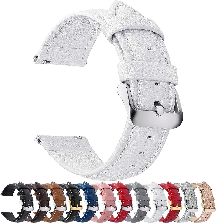 Fullmosa Axus Correa Piel, 12 Colores para Correa Reloj, Huawei Samsung Correa/Banda/Pulsera/Strap 14mm 16mm 18mm 19mm 20mm 22mm 24mm
