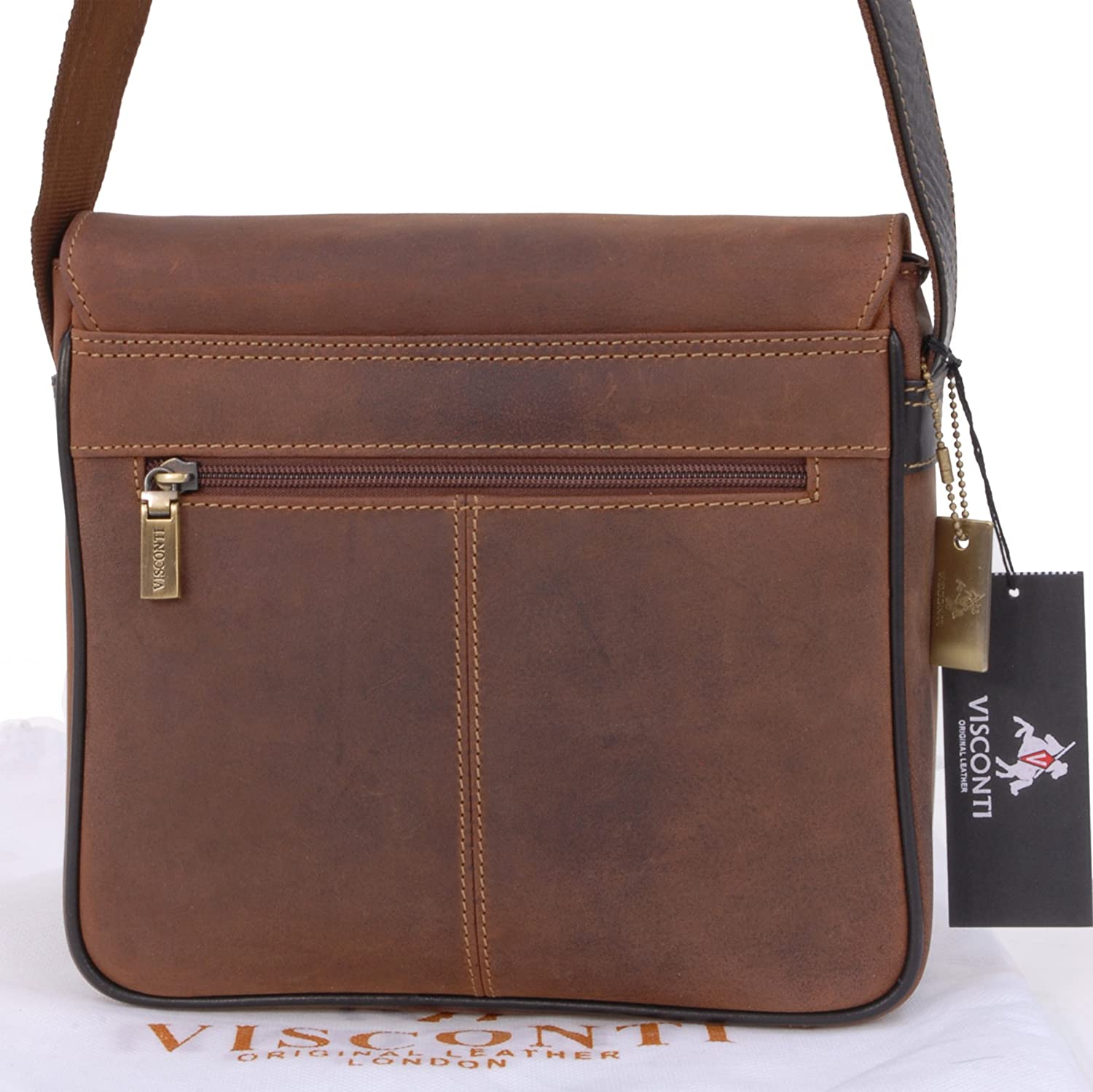 721999f1b Visconti Leather Messenger Organiser Bag - 16012 Rumba Kindle/I-Pad Size  Oil Tan: Amazon.in: Bags, Wallets & Luggage