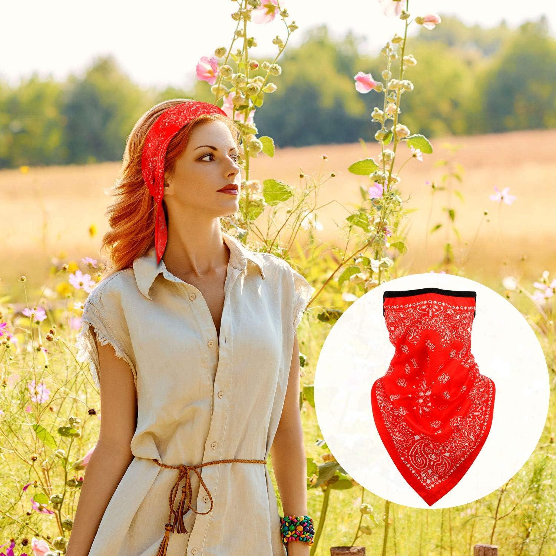 Bandana Face Cover Ear Loops Balaclava Neck Gaiter Scarf Outdoor Headwears for Men Women: Clothing