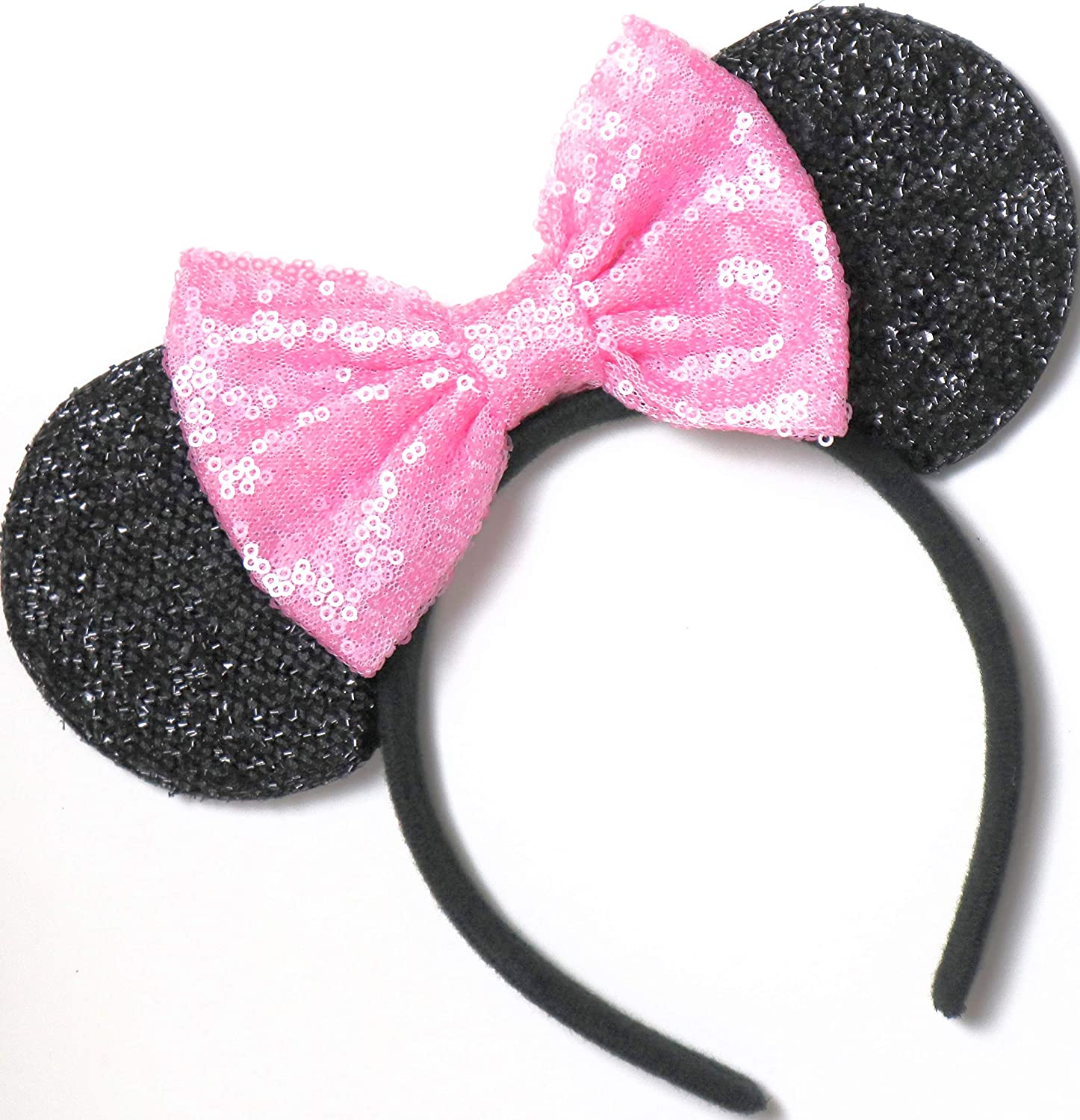 gold Mickey Mouse Ears Headband adult-kid 4 Minnie Mouse silver-blue,pink