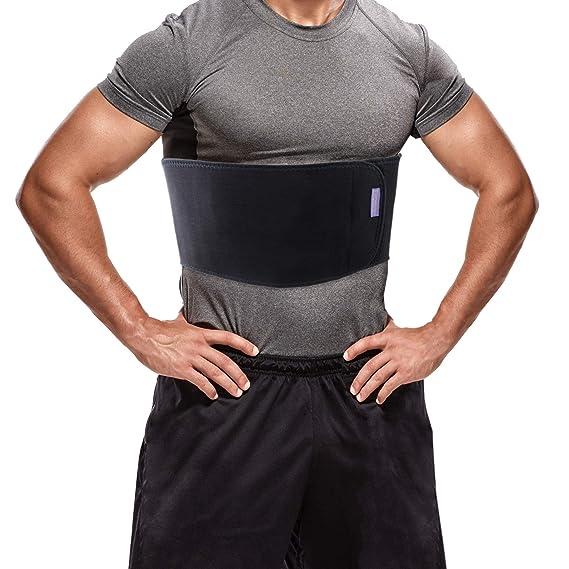 Soporte para costilla rota unisex - Banda de compresión con soporte de costilla de carbón de leña de bambú - Acelera la curación de las costillas ...