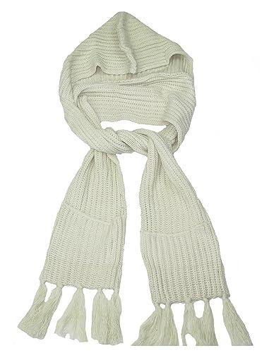 Lovarzi - Bufanda unisex con capucha con bolsillos - bufandas de invierno de punto con capucha