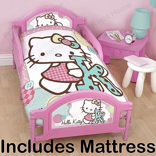 Letti Per Bambini Hello Kitty.Letto Per Bambini Hello Kitty Stitch Materasso In Schiuma