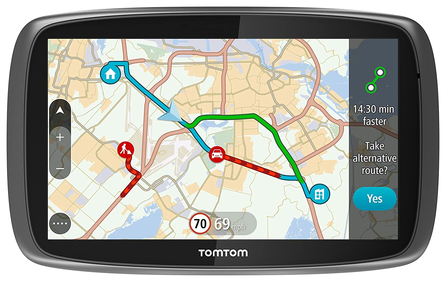 Tomtom Go 5100 5 Inch Sat Nav With World Maps Sim Card And Australian 610 Phone Socket Wiring Diagram Unlimited Data Included Black Electronics