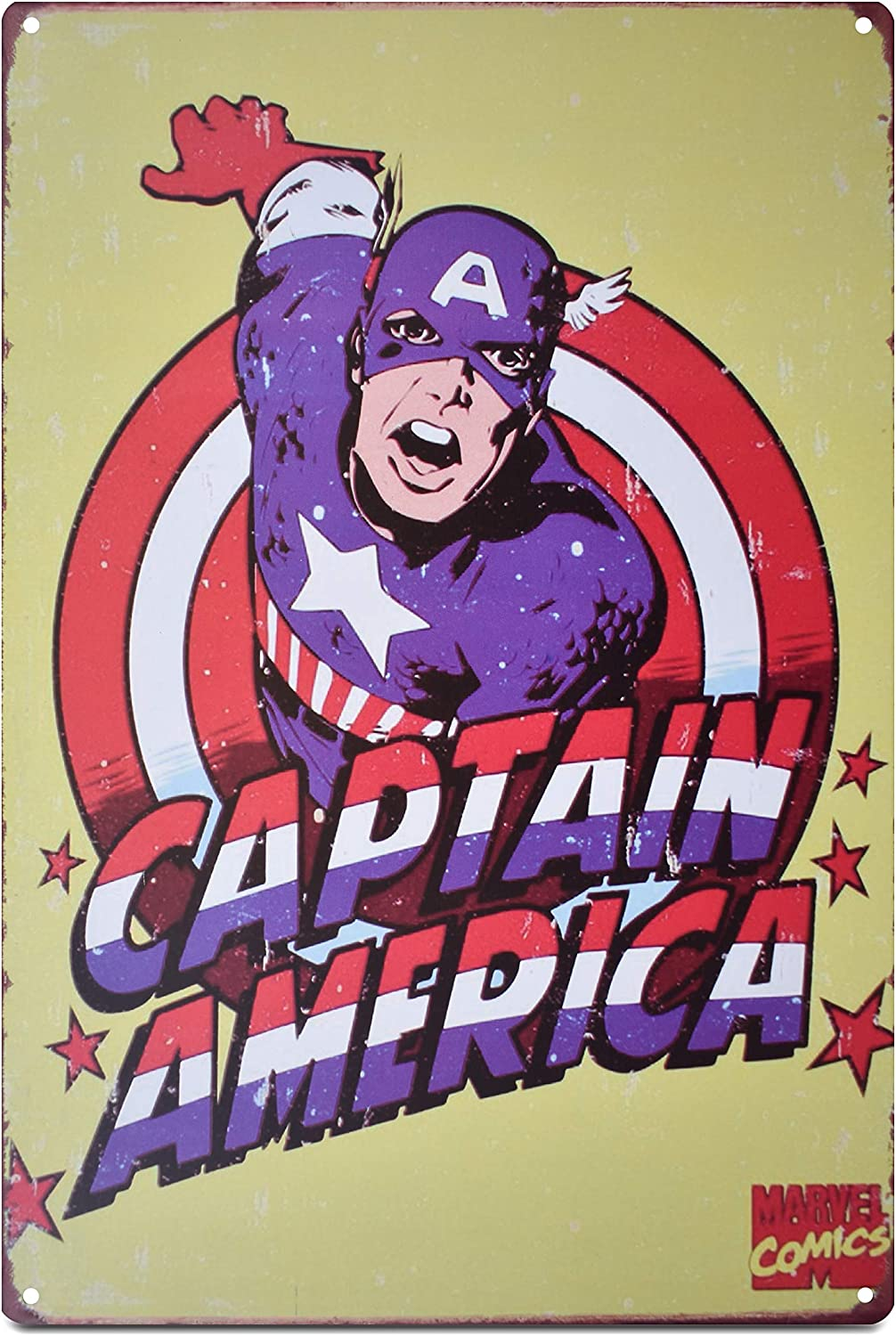 K&H Captain America Marvel DC Comic Antique Signs (Captain America)