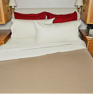RV Sheet Set 100% Cotton For Winnebago View Over The Cab Sheets 49x75 Color: