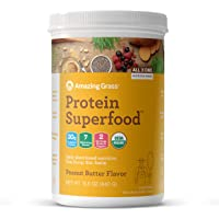 Amazing Grass Protein Superfood: Organic Vegan Protein Powder, Plant Based Meal Replacement Shake with 2 servings of…