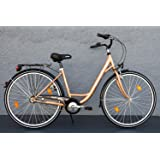 "28"" Zoll Damen Fahrrad Biria Mifa City Bike Shimano 3 Gang Rücktritt Gold"