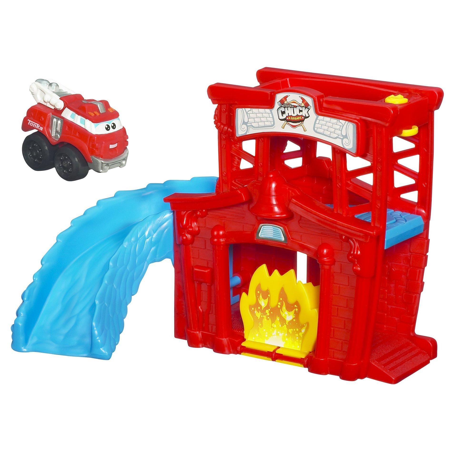 Tonka Chuck Mini Fold N Go - Fire Station Splash