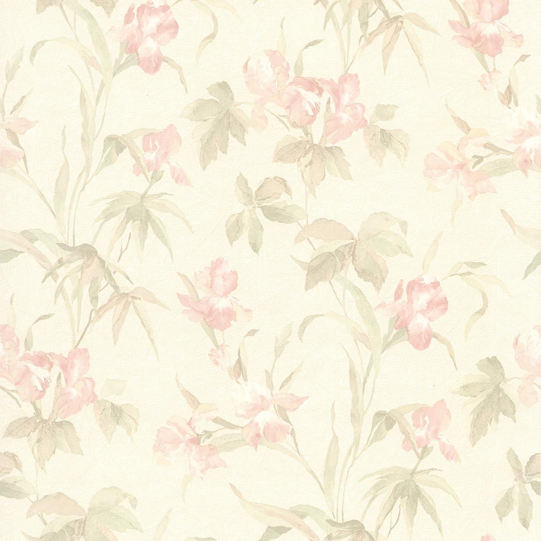Brewster 414 65782 Iris Light Pink Iris Floral Wallpaper Light