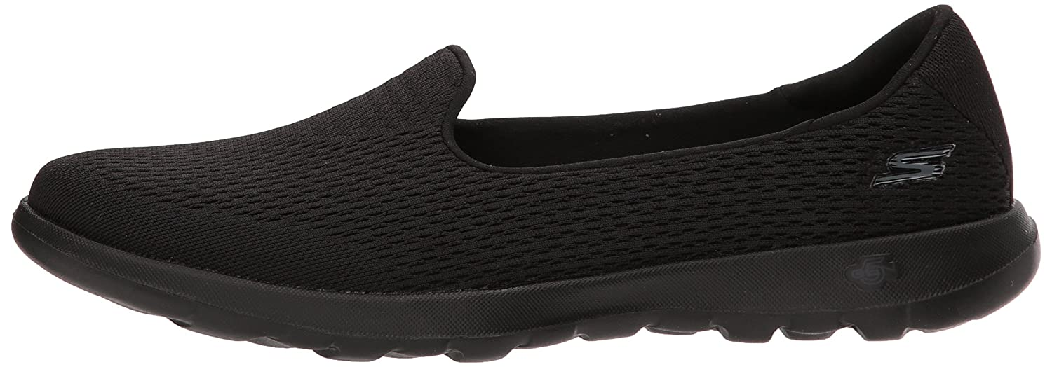 Skechers Women's Go Walk Lite-15410 Loafer Flat B071GVH7JM 8 B(M) US|Black
