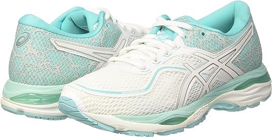 Asics Gel-Cumulus 19 Lite-Show, Zapatillas de Running para Mujer, Multicolor (White/Silver/Aruba Blue 0193), 42 EU: Amazon.es: Zapatos y complementos