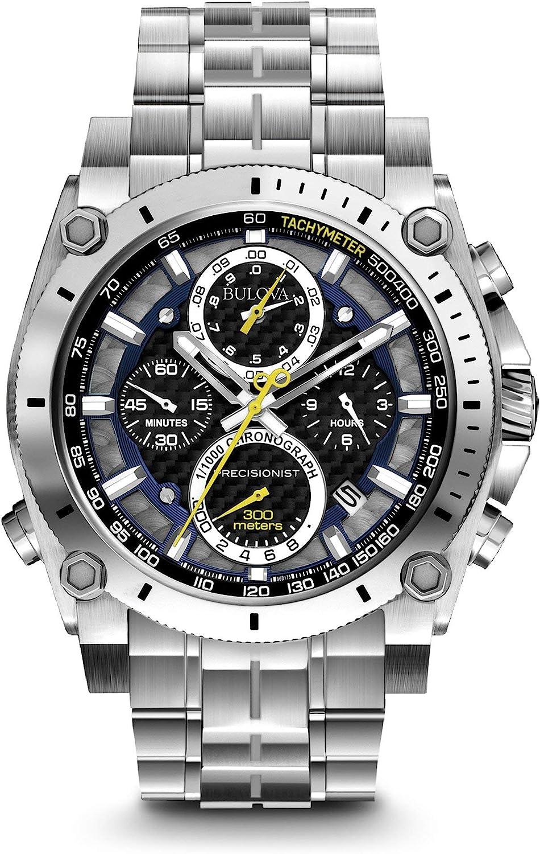 Bulova Precisionist Cronógrafo Reloj de Acero Inoxidable de los Hombres