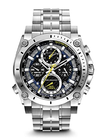 1b3e7328f Amazon.com: Bulova Men's 96B175 Precisionist Stainless Steel Watch ...