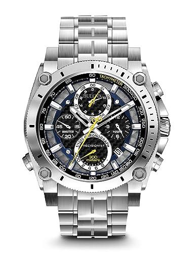 538645d690ed Bulova Reloj Cronógrafo para Hombre de Cuarzo con Correa en Acero  Inoxidable 96G175  Amazon.es  Relojes