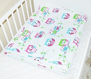 Amilian Baby Bettwäsche Design Eule Weiß Größe 100x135 Cm 40x60