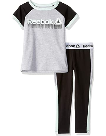 ec3531496e6a46 Reebok Girls  Short Sleeve Printed T-Shirt and Pull-on Legging Set