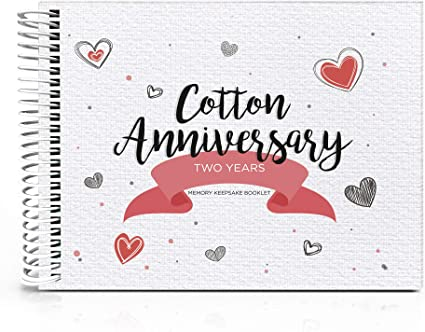 Cotton Anniversary Gift for wife 2 Year anniversary 2nd Wedding anniversary Second anniversary for him  Unique gift Linen anniversary