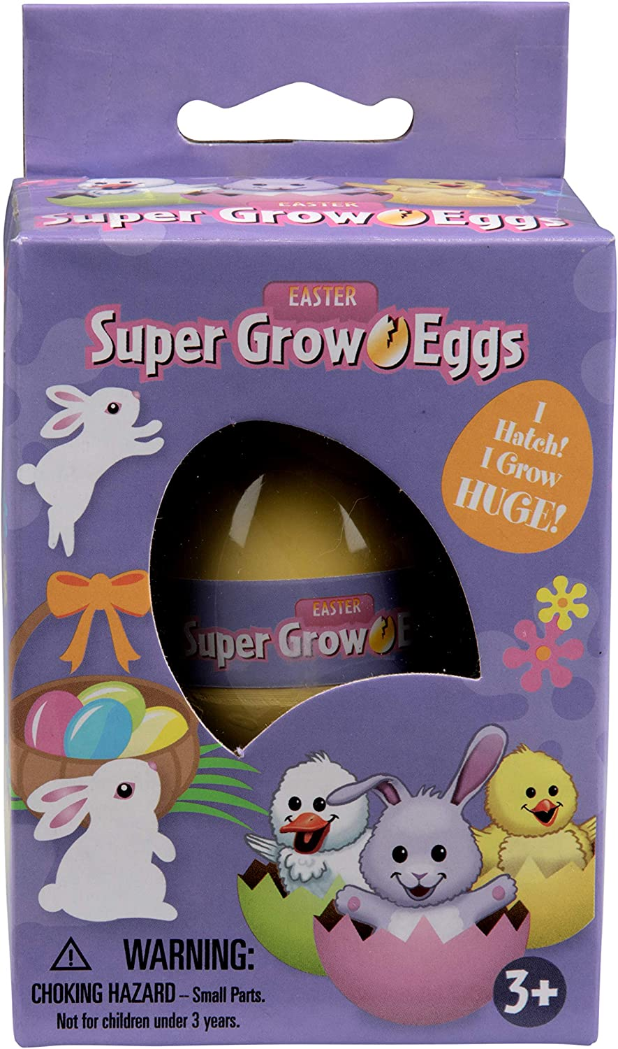 SCS Direct Easter Super Grow Eggs for Kids 3 Pack- Hatch and Grow for Easter Gifts Duck and Chick Three Different Pets That Grow 5-6x Size- Bunny Baskets and Egg Hunts