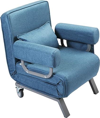 JAXPETY Folding Arm Chair Convertible Sofa Bed Sleeper Chair