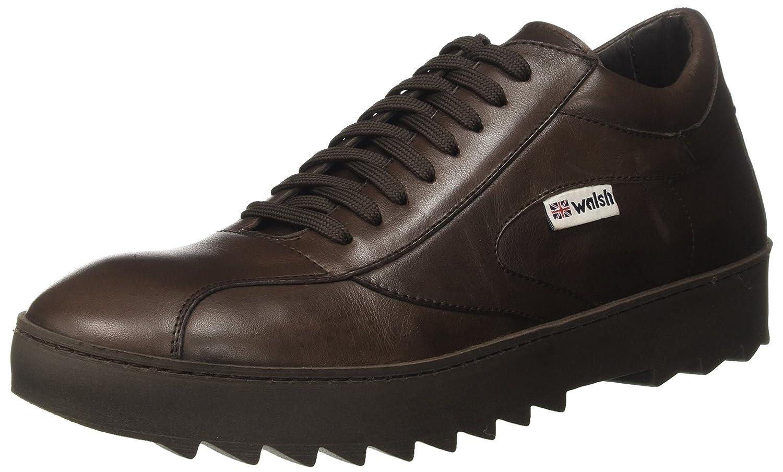 Walsh Herren Midsyle Wrapper Sole Sneaker  43 EU|Braun (Dk Brown Leather)