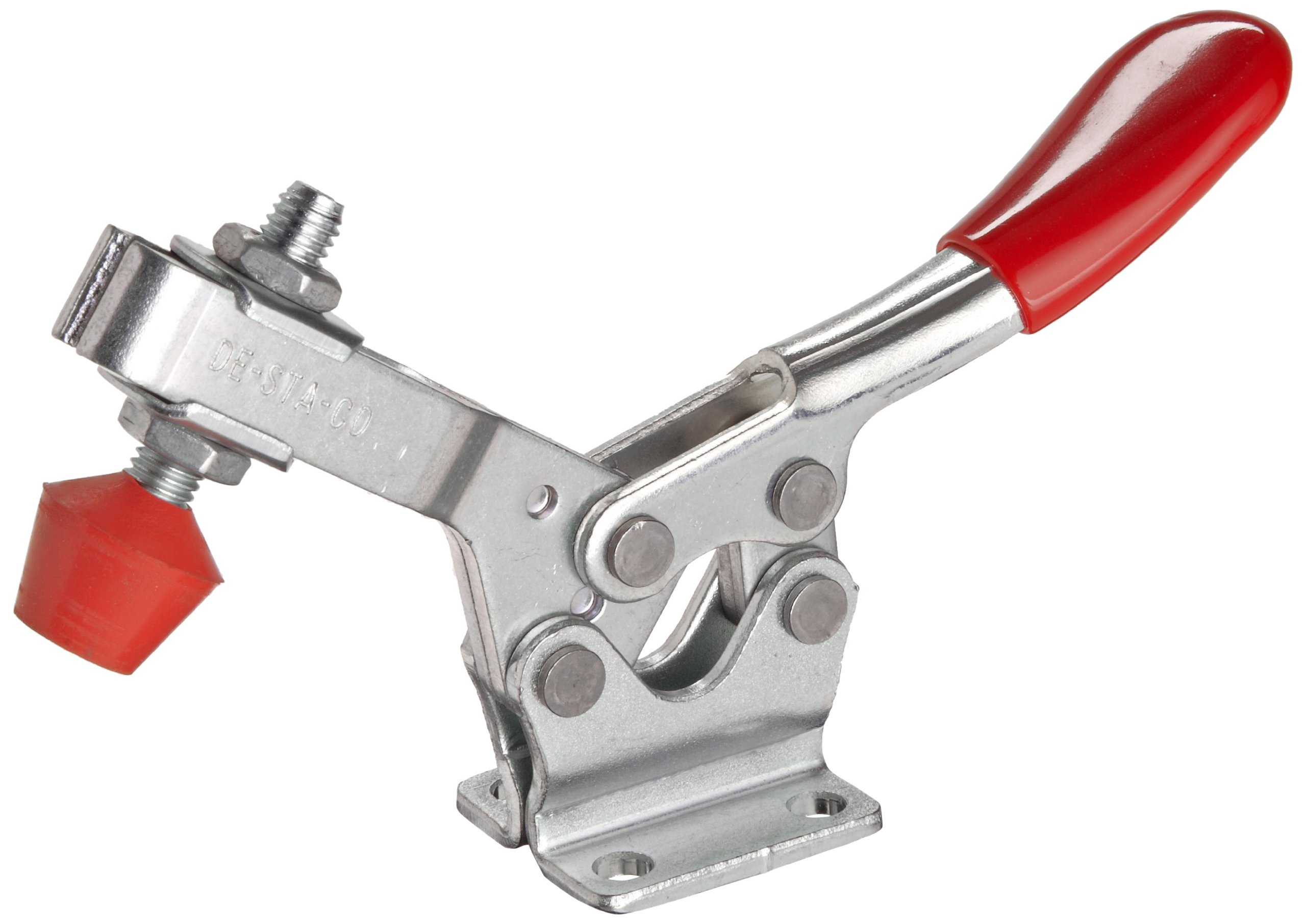 DE STA CO 225-U Horizontal Handle Hold Down Action Clamp with U-Shaped Bar and Flanged Base