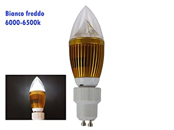 Bombilla LED GU10 220-240 V CC, blanco frío, 5 W 350 lm, casquillo E14 + adaptador (blanco frío 6000 - 6500 K): Amazon.es: Electrónica