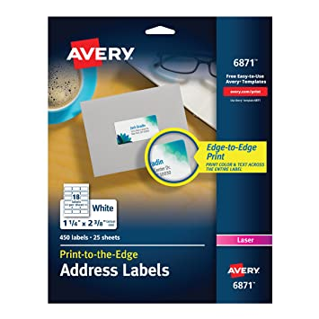 Avery 6871 white laser labels for color printing 1 14 x 2 38 avery 6871 white laser labels for color printing 1 14 x 2 reheart Image collections