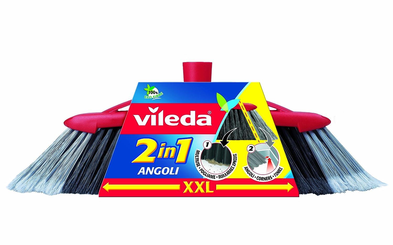 Red Grey Vileda 2聽in 1聽Broom Inside XXL 1 Black