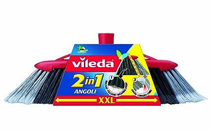 Vileda 137396 - Escoba (Interior, Negro, Gris, Rojo, Soft/Hard