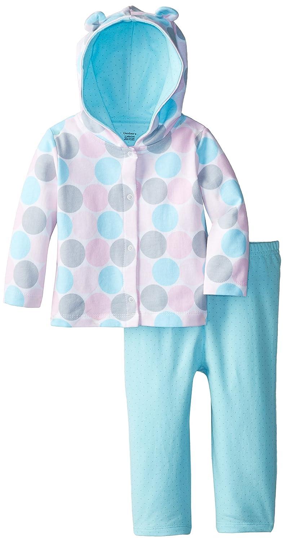 Amazon.com: Gerber Baby-Girls' Newborn Hooded Cardigan and Pant ...