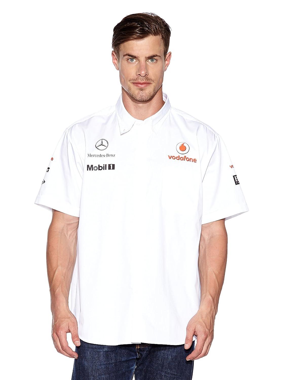 McLaren Vodafone Mercedes Hombre Patrocinadores Team Camisa Blanco ...